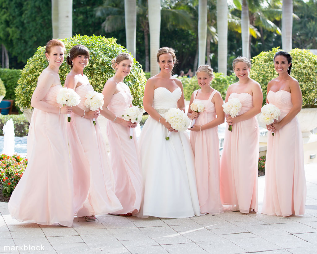 Bride with bridesmaids - photo by Mark Block