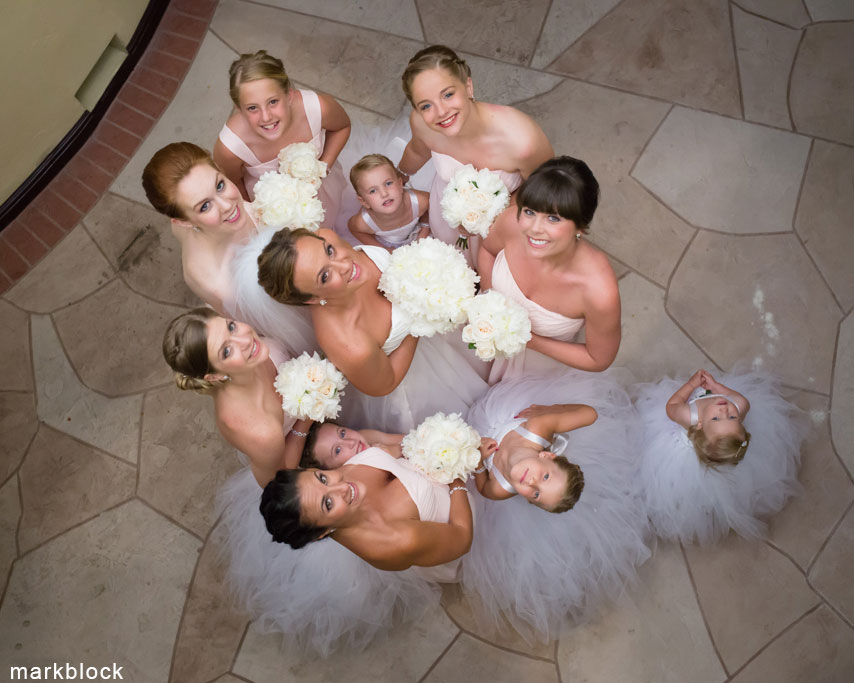 Bride and Bridesmaids at Marco Island FL Wedding - Wedding photography by Mark Block Photography